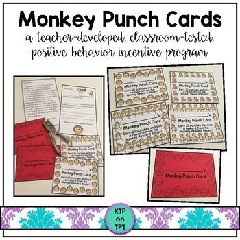 Monkey Punch Cards (Positive Behavior Incentive Program)