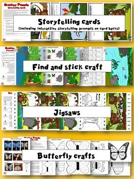 Monkey Puzzle - Activity Pack - Crafts and activities to learn through stories