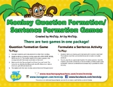 Monkey Question Formation/Sentence Formation Games