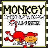 Monkey Reading Passage, Running Record & Graphic Organizers!