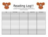 Monkey Reading log