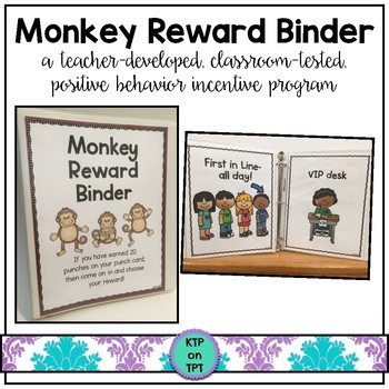 Monkey Reward Binder (Positive Behavior Incentive Program)