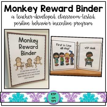 Monkey Reward Binder (Positive Behavior Incentive Program)