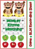 Monkey Rhyme Match Game