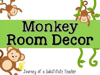 Monkey Room Decor Pack
