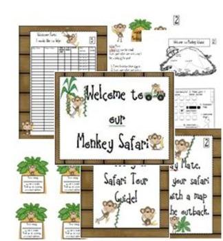 Monkey Safari Meet the Teacher Night Packet