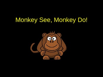 """""""Monkey See, Monkey Do!"""" A Look at Peer Pressure and Influence (Power Point)"""