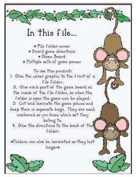 Monkey See, Monkey Do - Vowel Board Game