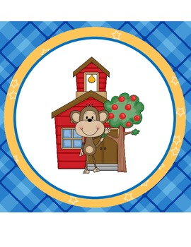 Back to School Monkey Banner (Extra Large)