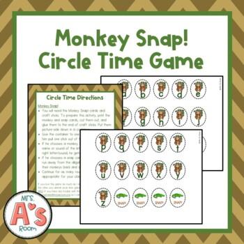 Monkey Snap! Circle Time Game
