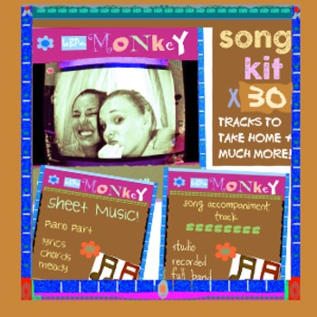 SONG KIT for our Monkey worry song: all perks