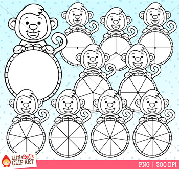 Monkey Spinners Clip Art