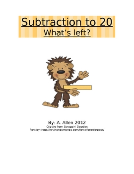 Monkey Subtraction Stories to 20