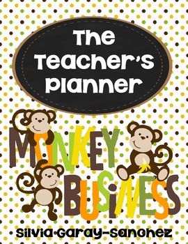 Monkey Teacher Lesson Planner, Grade Book, and Calendar