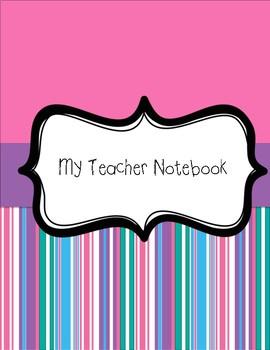 Teacher Notebook (pink doodle)