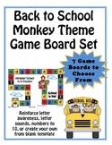 Monkey Theme (7 -2 page) Game Board Set -Pre-K and K