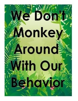 Monkey Theme Behavior Chart
