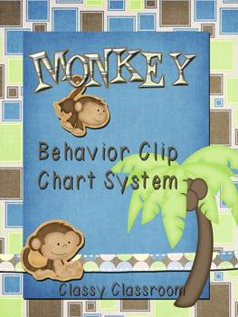 Monkey Theme Behavior Cip Chart System