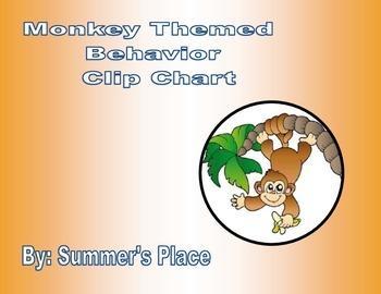 Monkey Theme Behavior Clip Chart