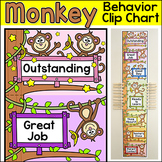 Behavior Chart - Monkey Theme Behavior Clip Chart Classroom Decor