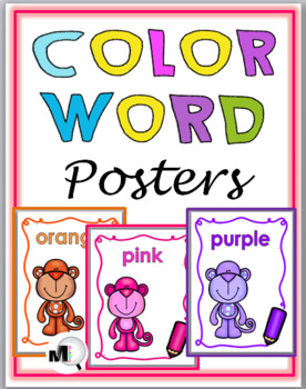Monkey Theme Classroom Décor - Color Word Posters