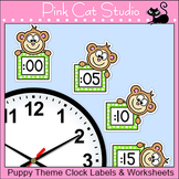 Monkey Theme Clock Labels