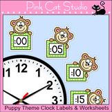 Monkey Theme Clock Labels