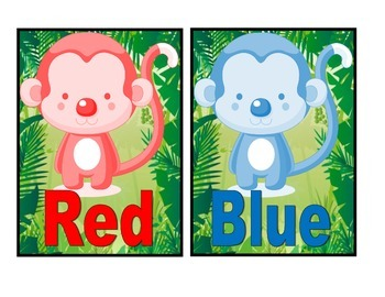 Monkey Theme Color Posters