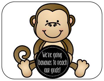 Monkey Theme Fluency Data Wall