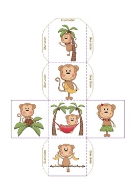 Monkey Theme Graph and Dice Set for Chicka Chicka Boom Boom