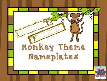 Monkey Theme Nameplates