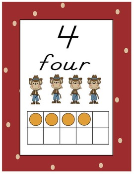 Monkey Theme Number Cards