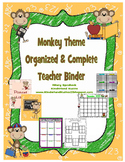 Monkey Theme Organized Binder and Plan Book