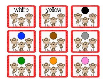 Monkey Theme Partner Cards