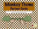 Monkey Theme Partner Cards