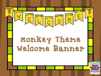 Monkey Theme Welcome Banner