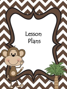 Monkey Theme or Jungle Theme Organizational Binder Dividers, Tabs, Info Sheets