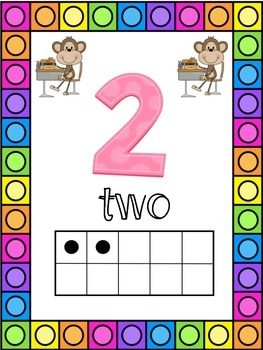 Monkey Themed 0-20 Numbers Posters