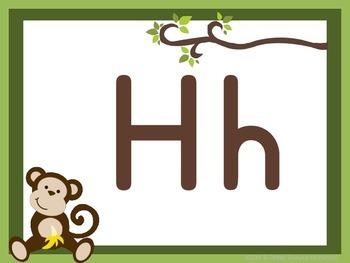 Monkey Themed Alphabet