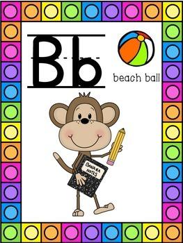 Monkey Themed Alphabet Posters