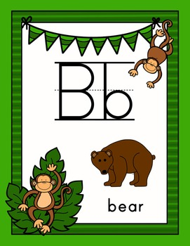 Monkey Themed Alphabet Posters and Ebook