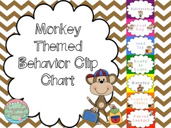 Monkey Themed Behavior Chart