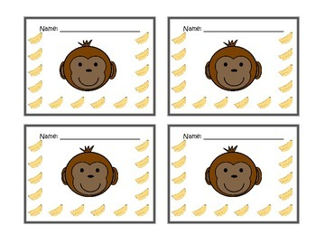 Monkey Themed Behavior Punch Cards