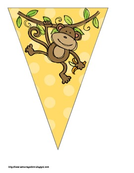 Monkey Themed Buntings- Customize Your Own Banner!
