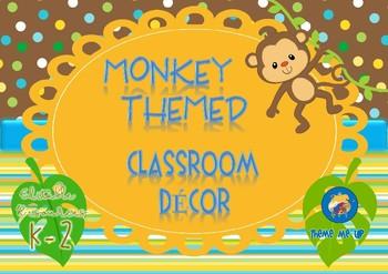 Monkey Themed Classroom Décor