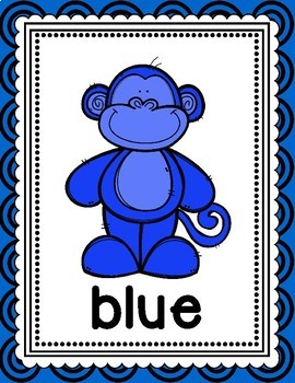 Monkey Themed Color Posters