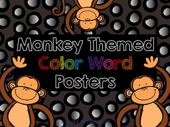 Monkey (Jungle) Themed Color Word Posters