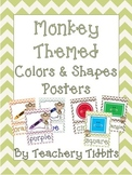 Monkey Themed Colors and Shapes Posters