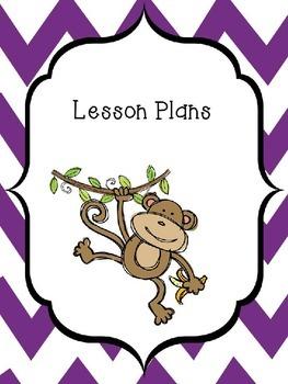 Monkey Themed Editable Lesson Plan Book