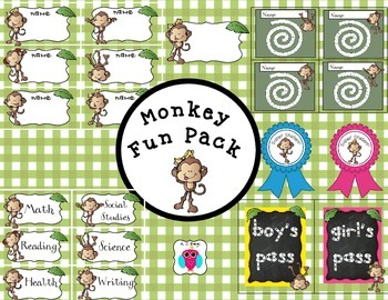 Monkey Themed Fun Pack